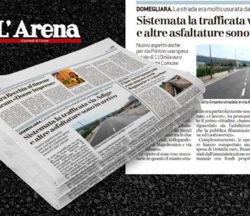 Italbeton migliora la viabilità della zona industriale di Domegliara
